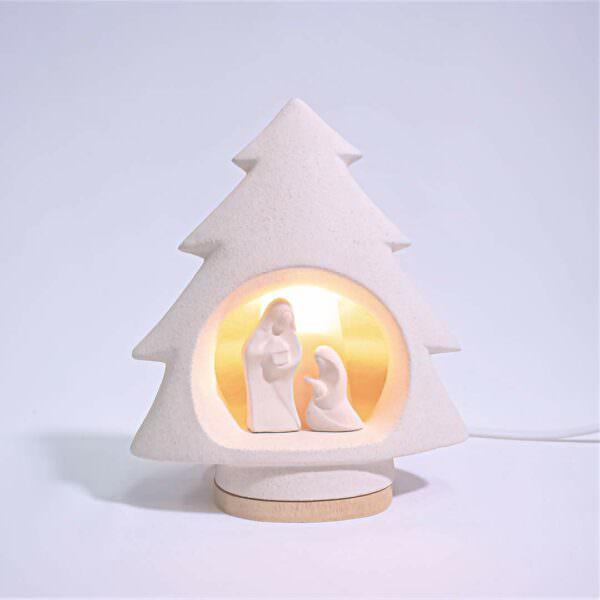 Albero presepe luce Ceramica